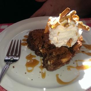 Sweet and Salty Fudge pie.