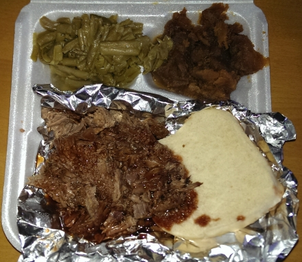 Pit beef + sides