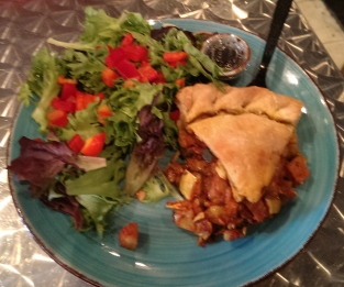 Ratatouille pie with salad