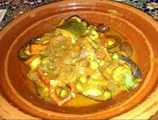 Seafood tangine
