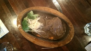 Sizzling ginger beef
